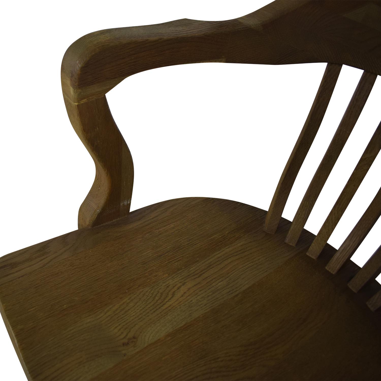 Restoration Hardware Restoration Hardware Bankers Chair brown
