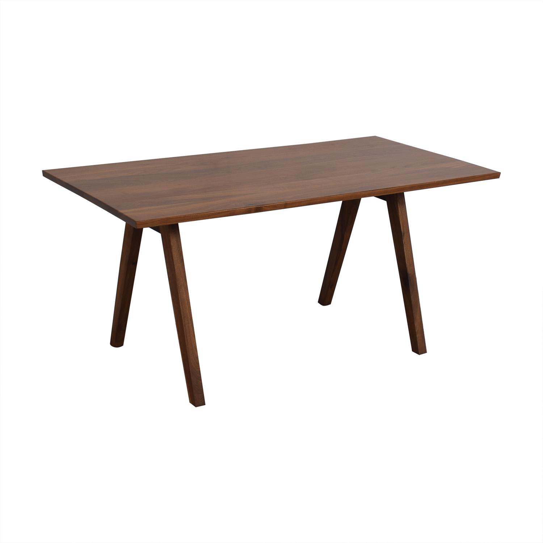 buy Moderncre8ve Sputnik Walnut Dining Table Moderncre8ve Dinner Tables