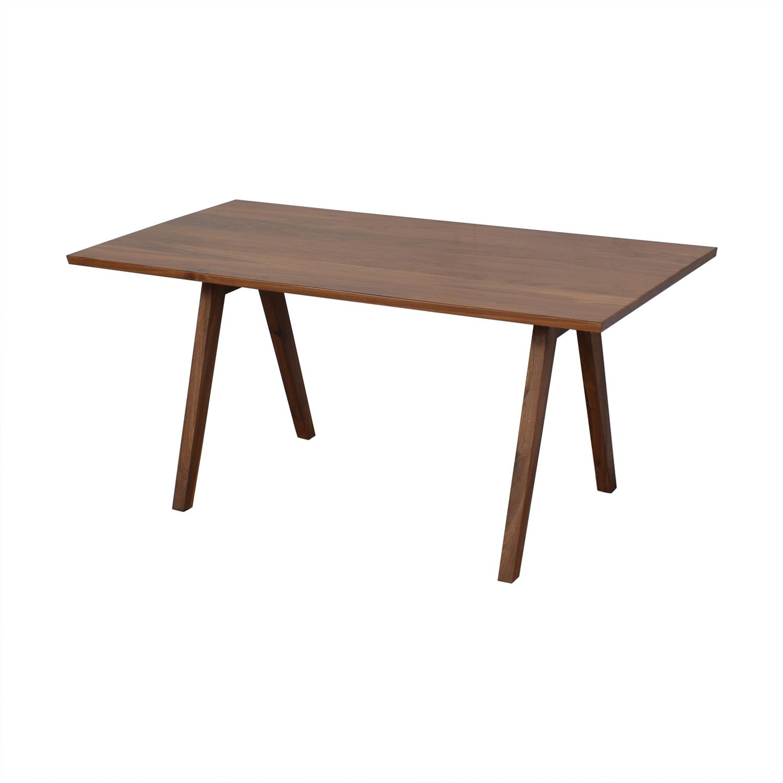 Moderncre8ve Moderncre8ve Sputnik Walnut Dining Table discount