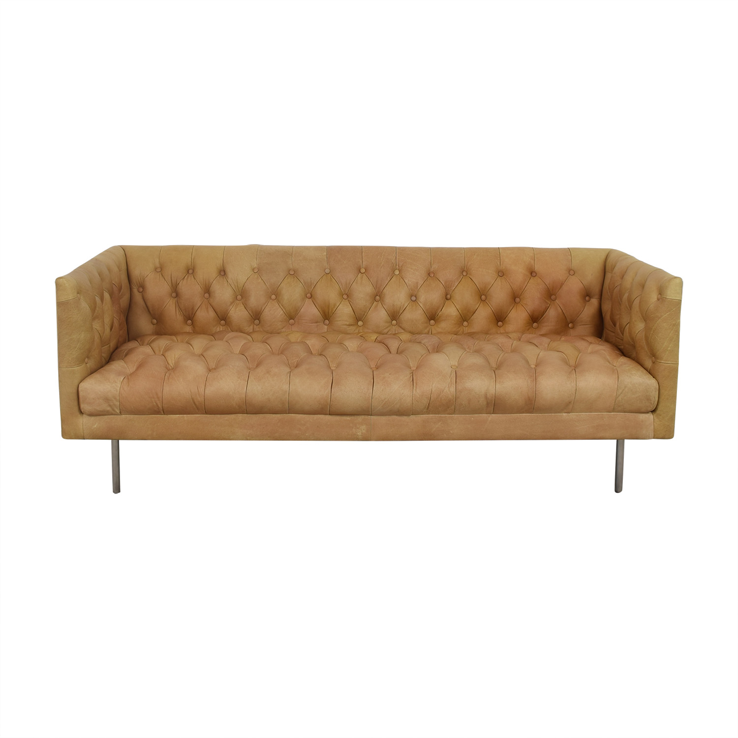 45 Off West Elm Modern Chesterfield Sofa Sofas