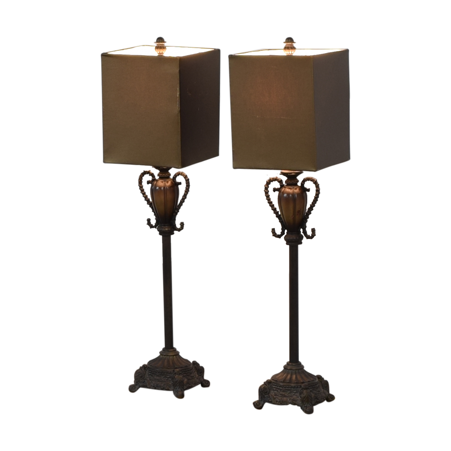 Brass and Leather Lamps Neiman Marcus