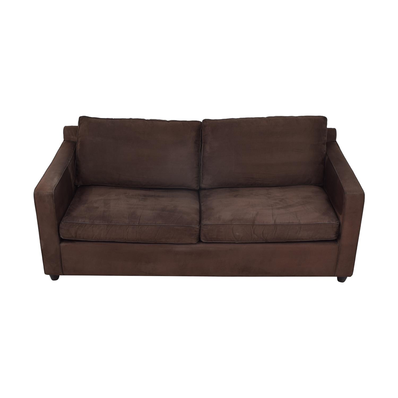 shop Ethan Allen Barrett Microfiber Sofa Ethan Allen Classic Sofas