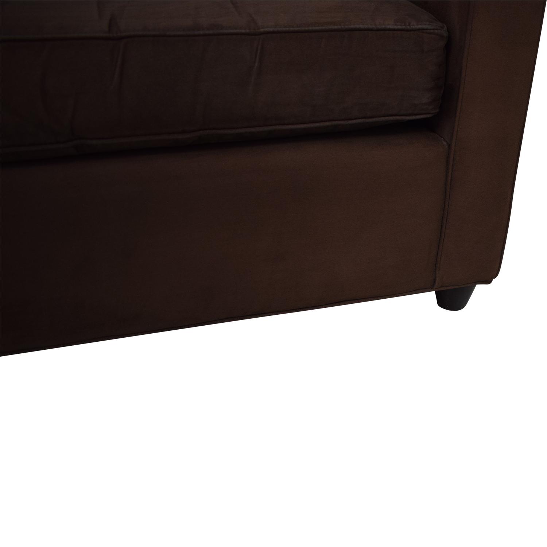Ethan Allen Ethan Allen Barrett Microfiber Sofa Classic Sofas