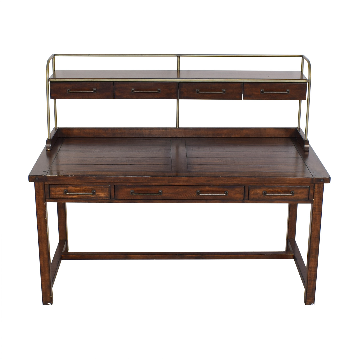 Pottery Barn Benchwright Desk with Hutch / Tables