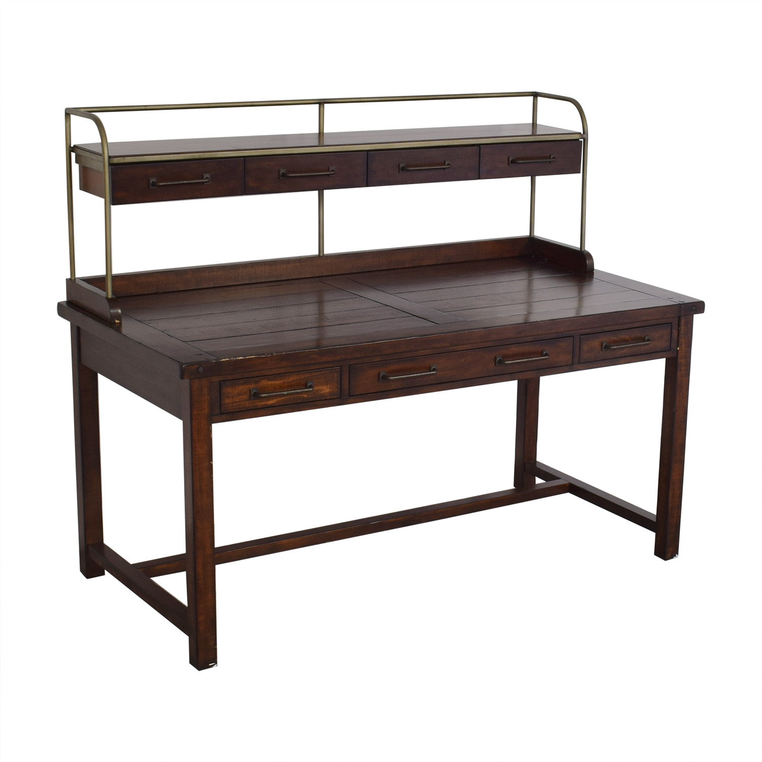 buy Pottery Barn Benchwright Desk with Hutch Pottery Barn Tables