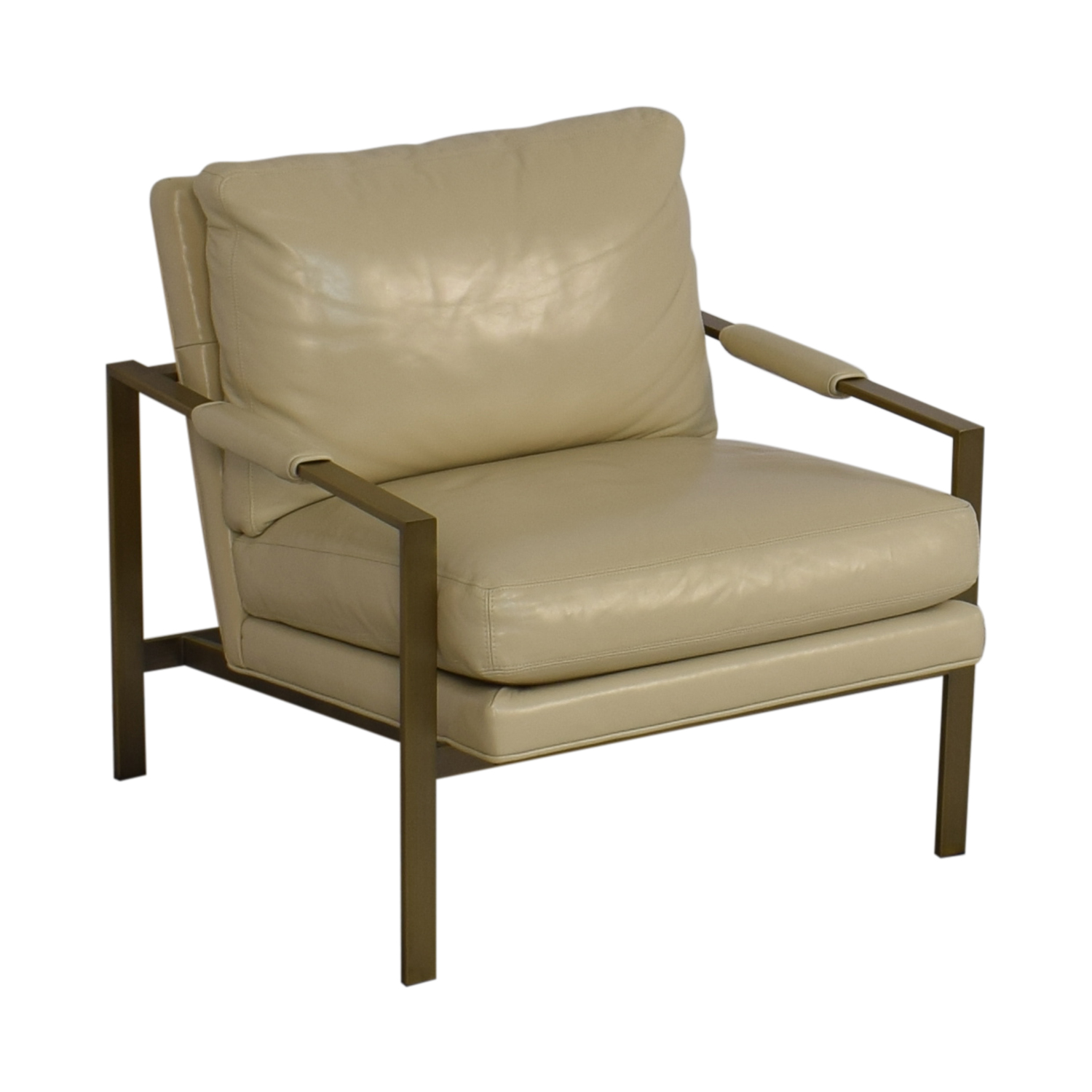 Crate & Barrel Milo Baughman Leather Chair / Chairs