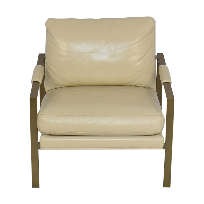 Crate & Barrel Milo Baughman Leather Chair sale