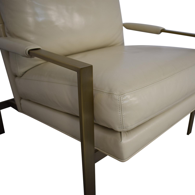 Crate & Barrel Crate & Barrel Milo Baughman Leather Chair