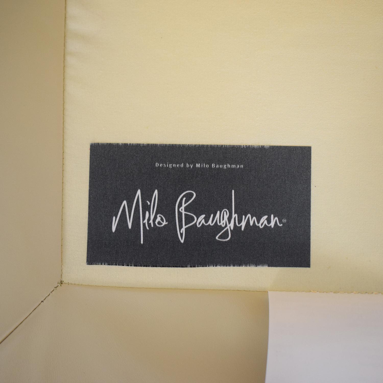 Crate & Barrel Crate & Barrel Milo Baughman Leather Chair nyc