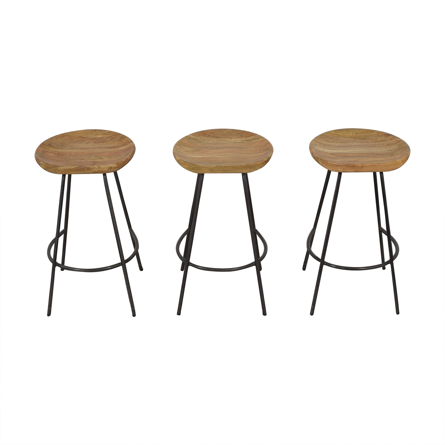 West Elm West Elm Alden Bar and Counter Stools brown and grey
