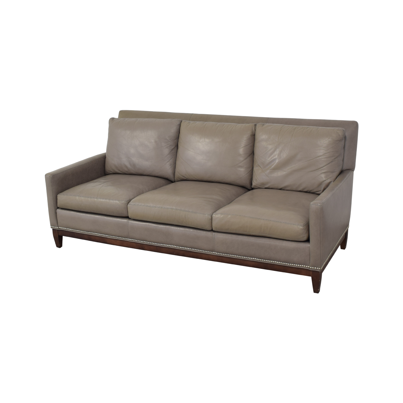 Arhaus Arhaus Taylor Leather Sofa grey