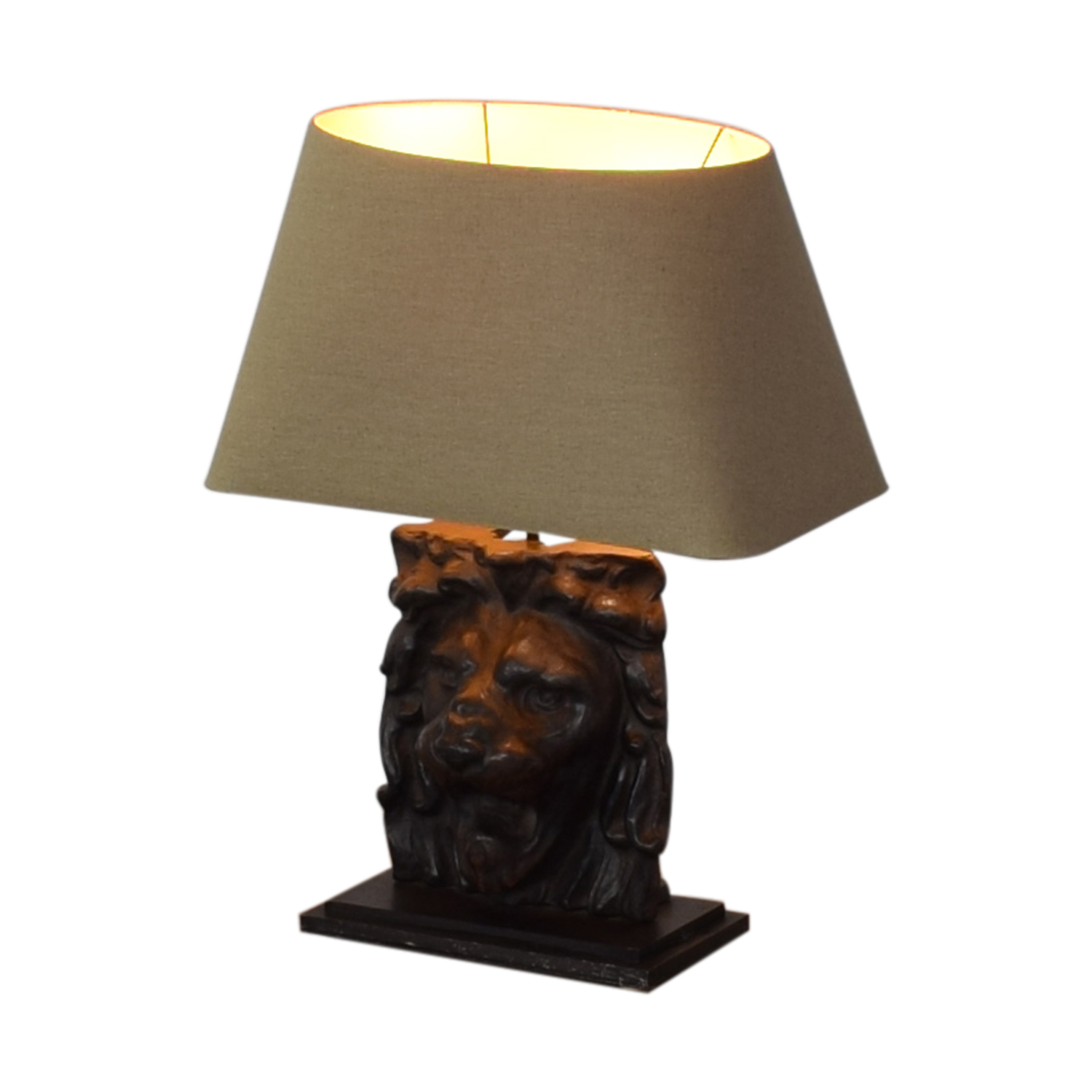 Restoration Hardware Restoration Hardware Lion's Head Table Lamp Lamps