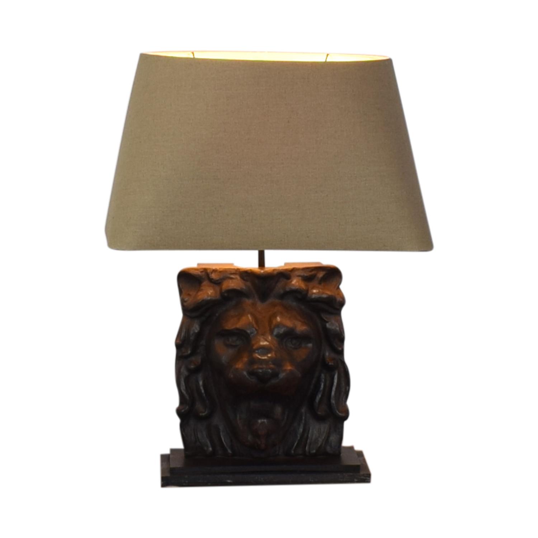 Restoration Hardware Restoration Hardware Lion's Head Table Lamp price