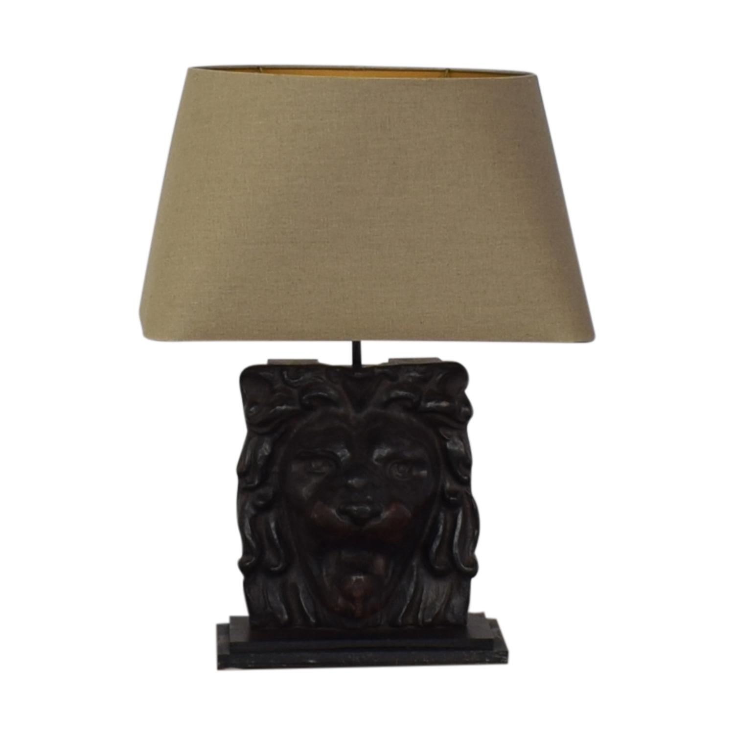 shop Restoration Hardware Lion's Head Table Lamp Restoration Hardware