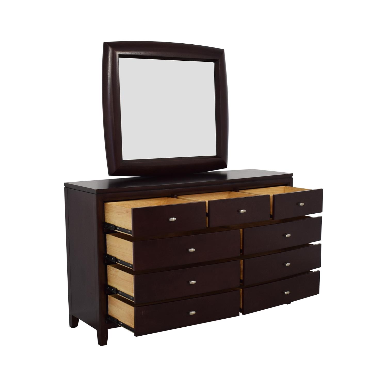 American Drew Dresser with Mirror / Storage