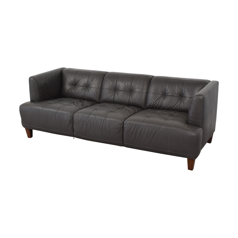 Macy's Macy's Tufted Sofa grey