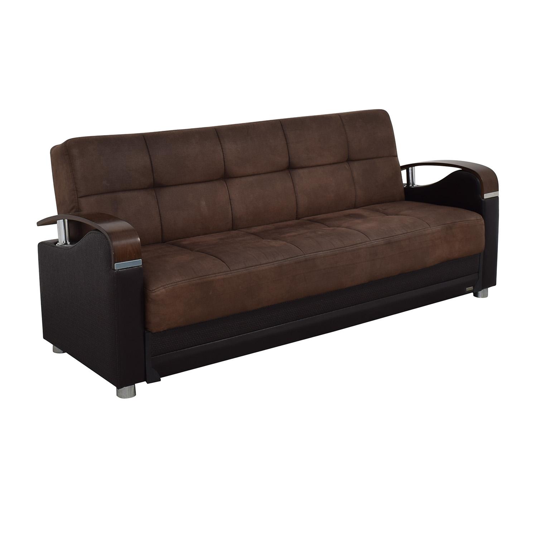 Bellona Brown Futon Couch / Sofas