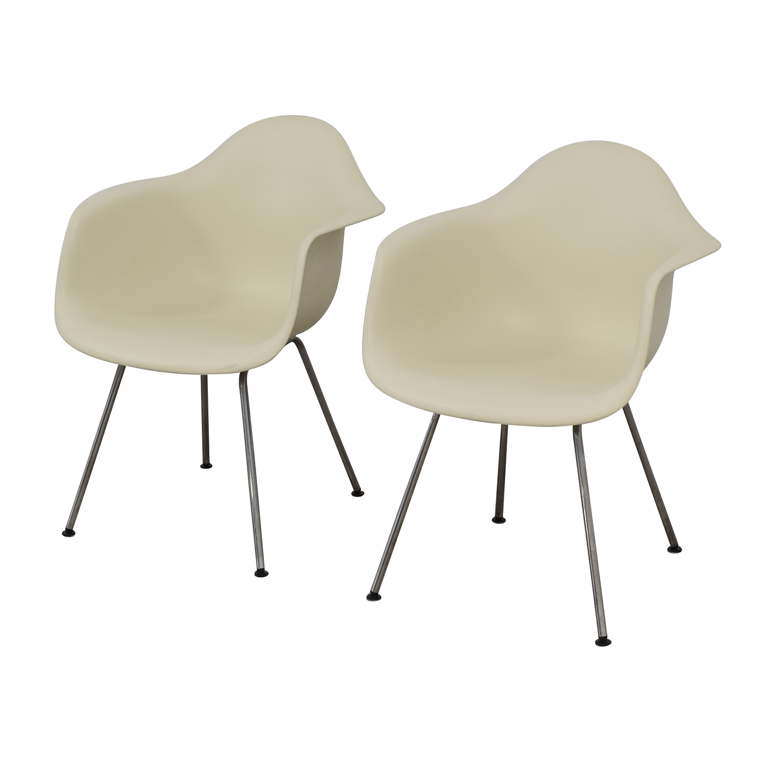 Design Within Reach Eames Molded Plastic 4 Leg Armchairs sale
