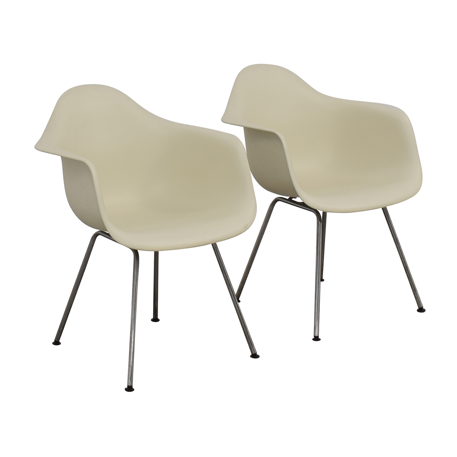 Design Within Reach Design Within Reach Eames Molded Plastic 4 Leg Armchairs for sale