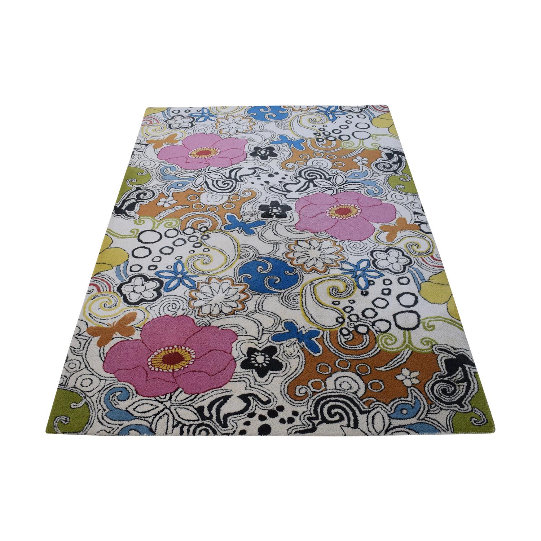 Surya Suyra Goa Floral Rug used