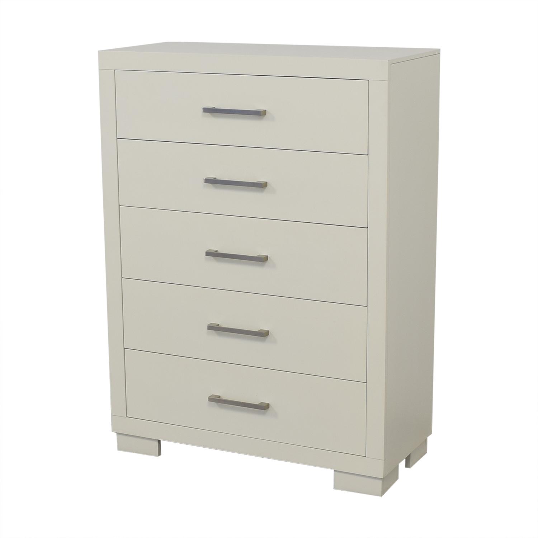 Coaster Fine Furniture Coaster White 5-Drawer Jessica Dresser Dressers