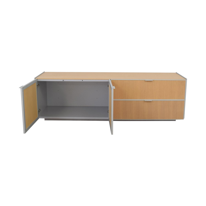 shop Natrona Contemporary Italian Credenza Natrona Cabinets & Sideboards