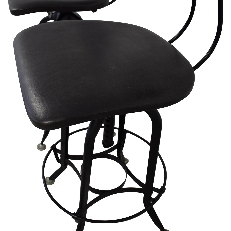 shop Restoration Hardware 1940s Vintage Toledo Leather Bar Chair Restoration Hardware Chairs