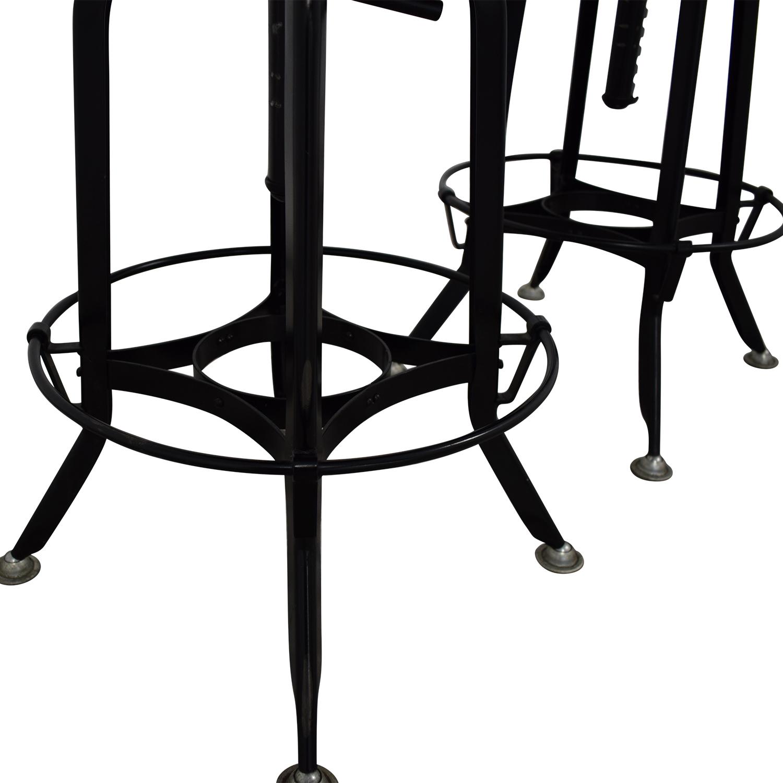 buy Restoration Hardware 1940s Vintage Toledo Leather Bar Chair Restoration Hardware Stools