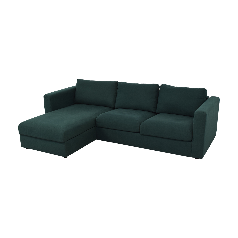 54% OFF - IKEA IKEA Storage Chaise Sectional Sofa / Sofas