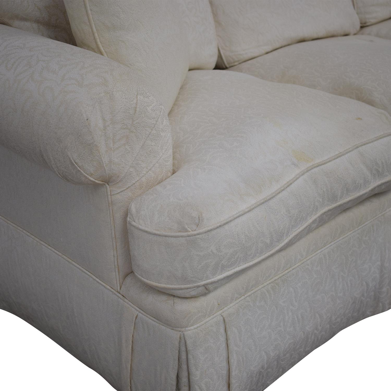 White Roll Arm Sofa nyc