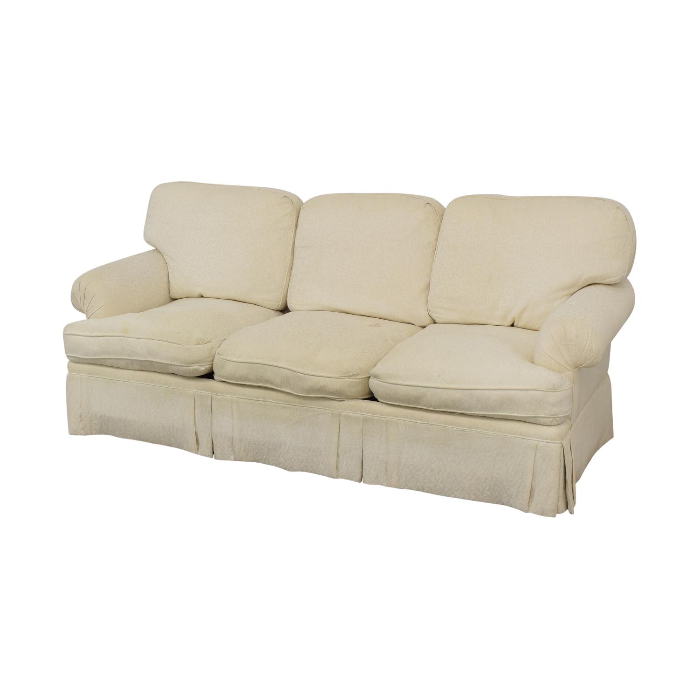 White Roll Arm Sofa nj
