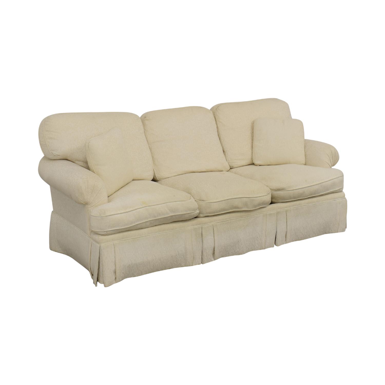 shop White Roll Arm Sofa  Classic Sofas