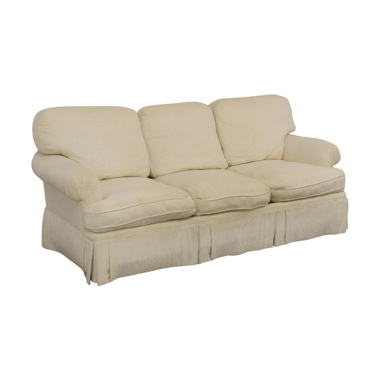 shop White Roll Arm Sofa  Sofas
