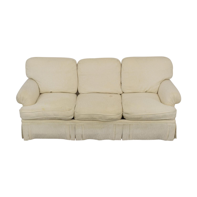 White Roll Arm Sofa