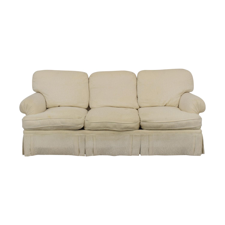 White Roll Arm Sofa / Sofas