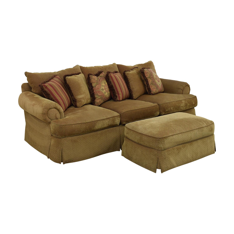 Thomasville Thomasville Three Seat Sofa with Ottoman for sale