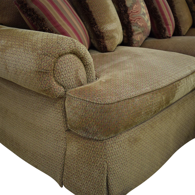 Thomasville Thomasville Three Seat Sofa with Ottoman second hand