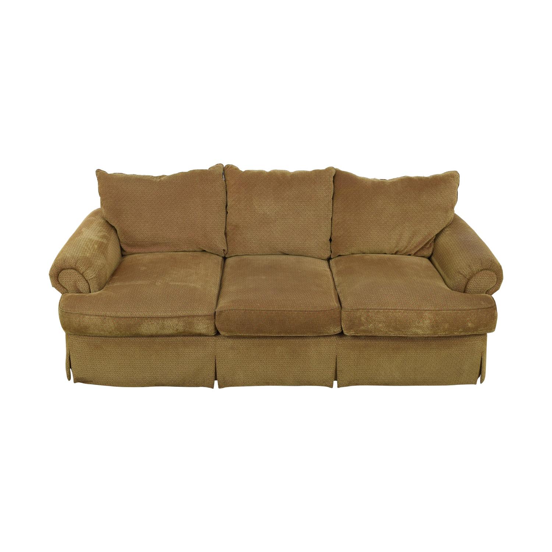 buy Thomasville Three Seat Sofa with Ottoman Thomasville