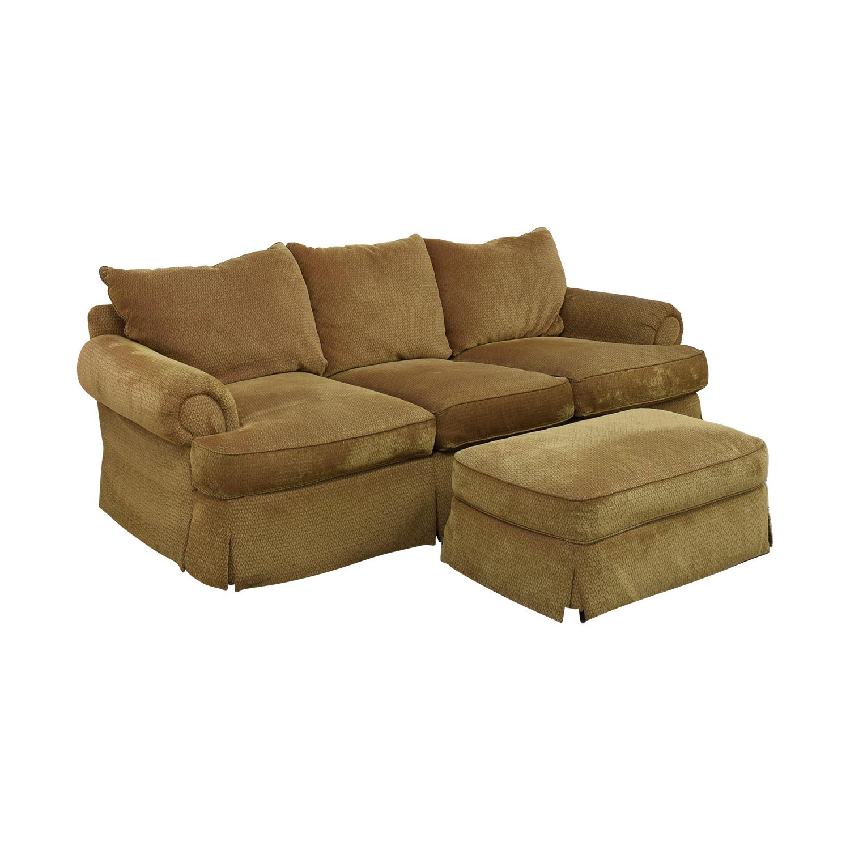 Thomasville Thomasville Three Seat Sofa with Ottoman price