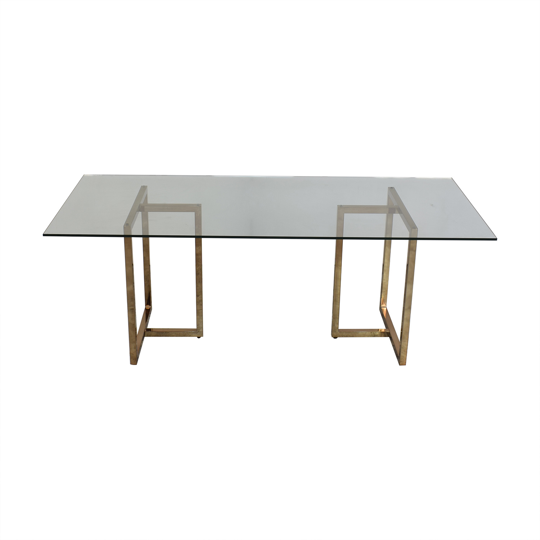 CB2 CB2 Silverado Rectangular Dining Table brass