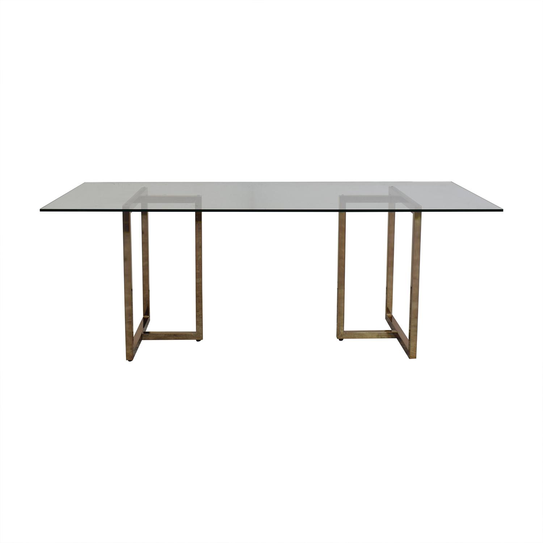 CB2 CB2 Silverado Rectangular Dining Table used
