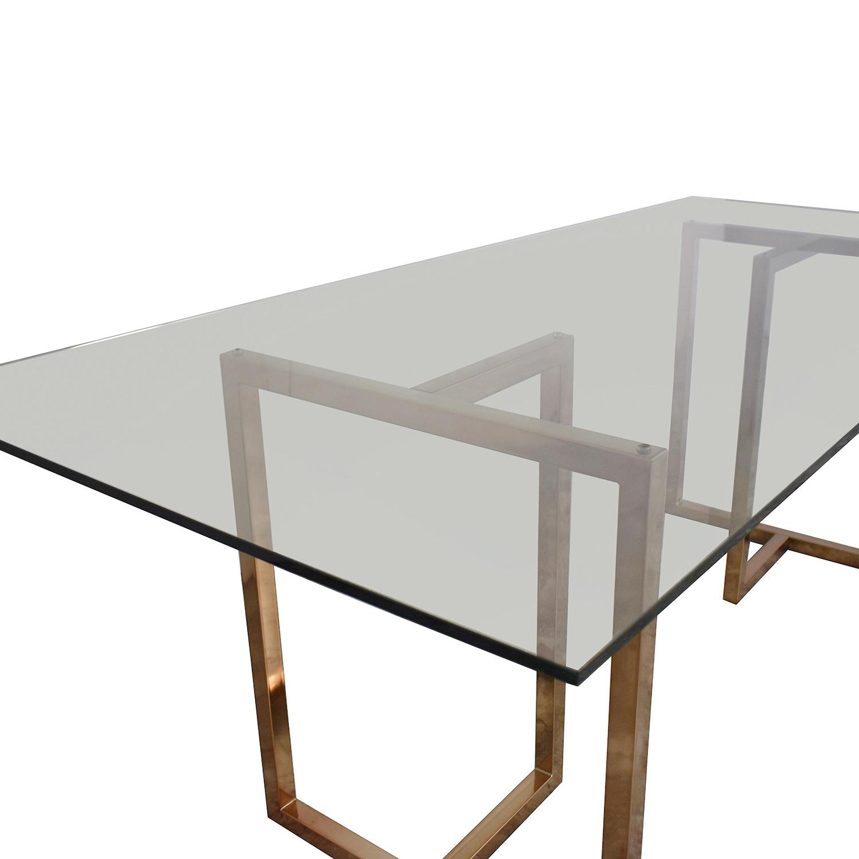 CB2 Silverado Rectangular Dining Table / Dinner Tables
