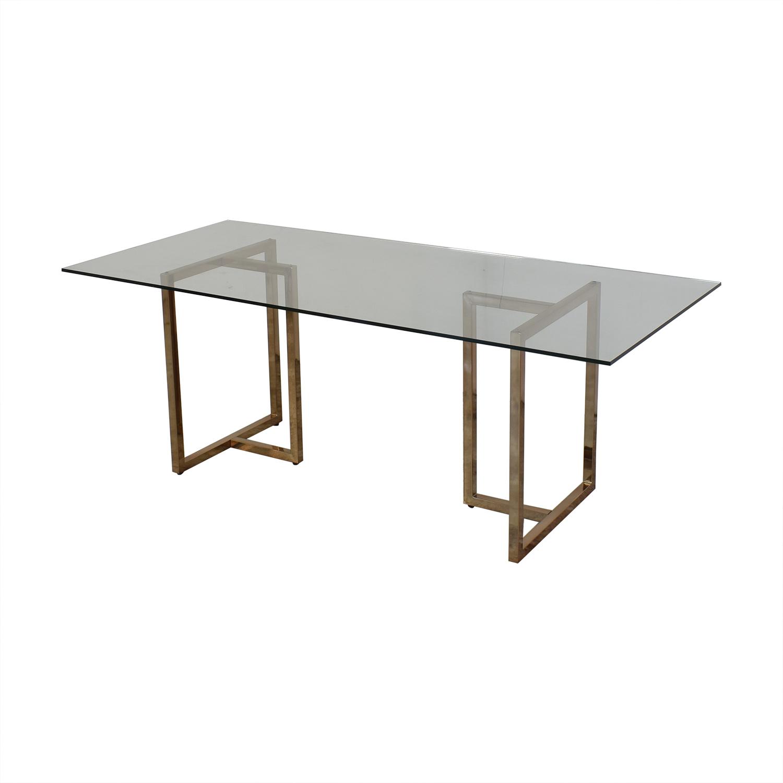 CB2 CB2 Silverado Rectangular Dining Table Dinner Tables