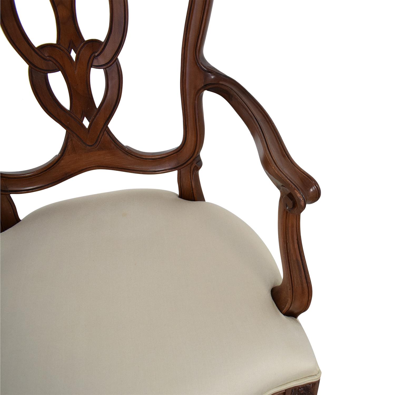 ABC Carpet & Home ABC Carpet & Home Side Chair brown & off white