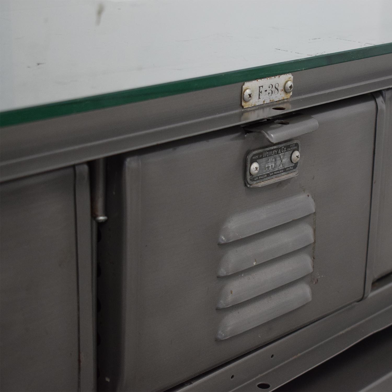 buy Upcycled Industrial Vintage Locker Coffee Table  Coffee Tables