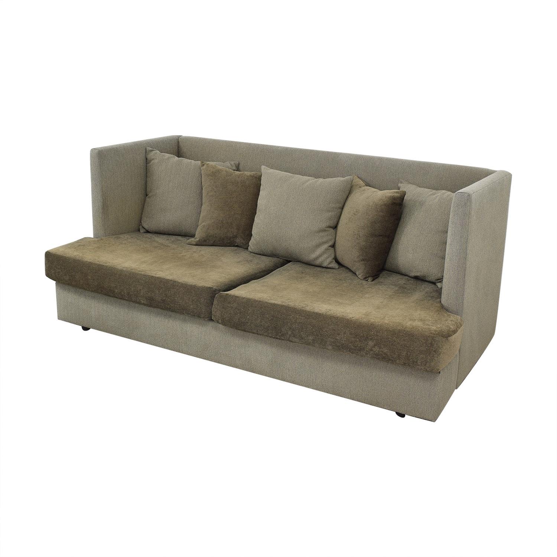 buy Crate & Barrel Crate & Barrel Milo Baughman Shelter Sleeper Sofa online