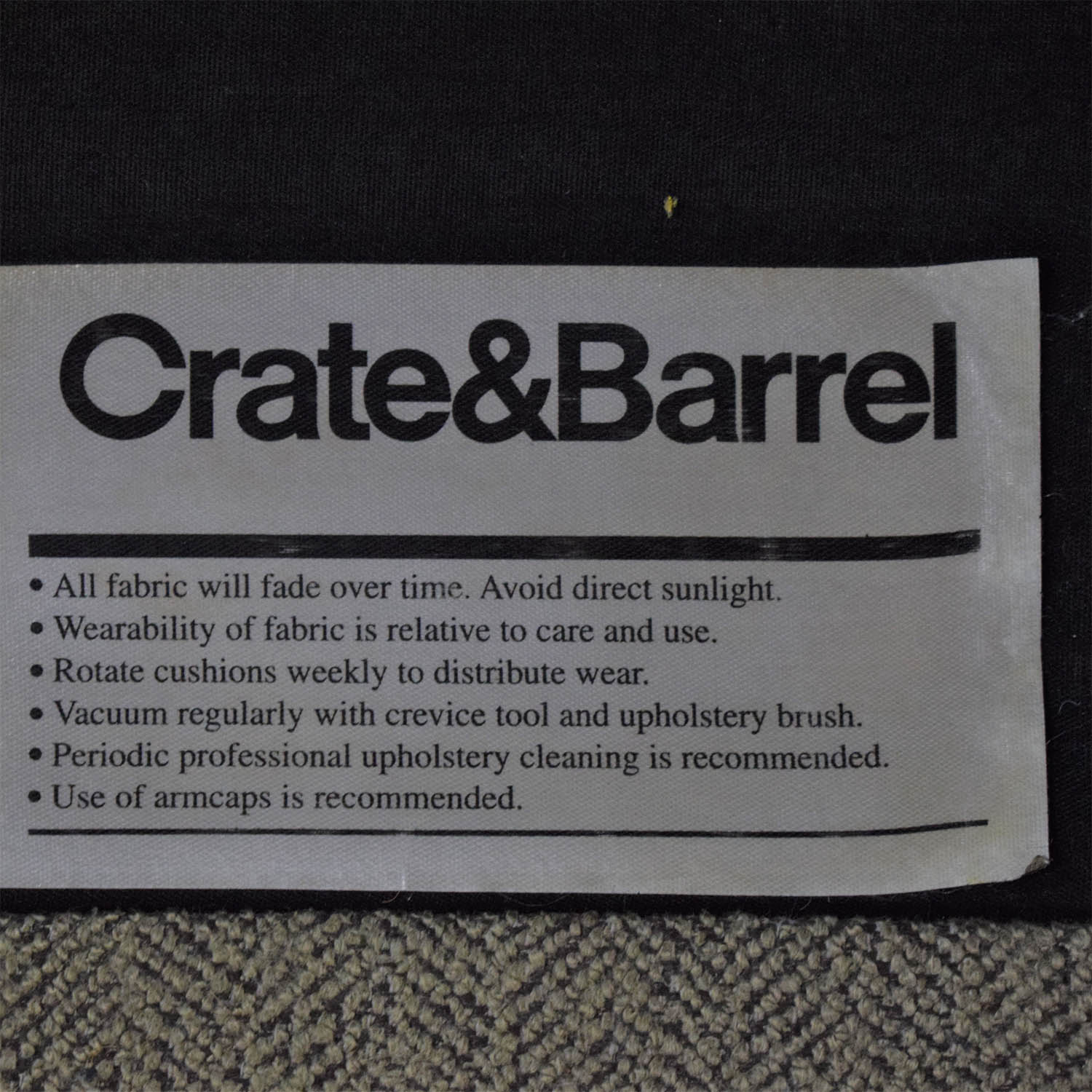 buy Crate & Barrel Milo Baughman Shelter Sleeper Sofa Crate & Barrel Sofa Beds