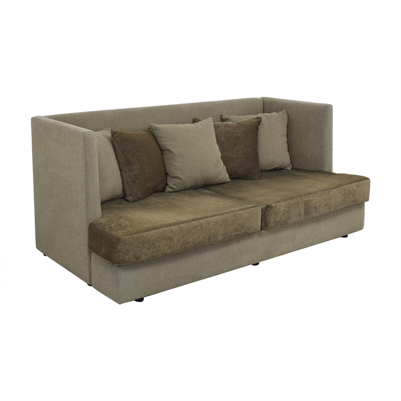 Crate & Barrel Milo Baughman Shelter Sleeper Sofa / Sofa Beds