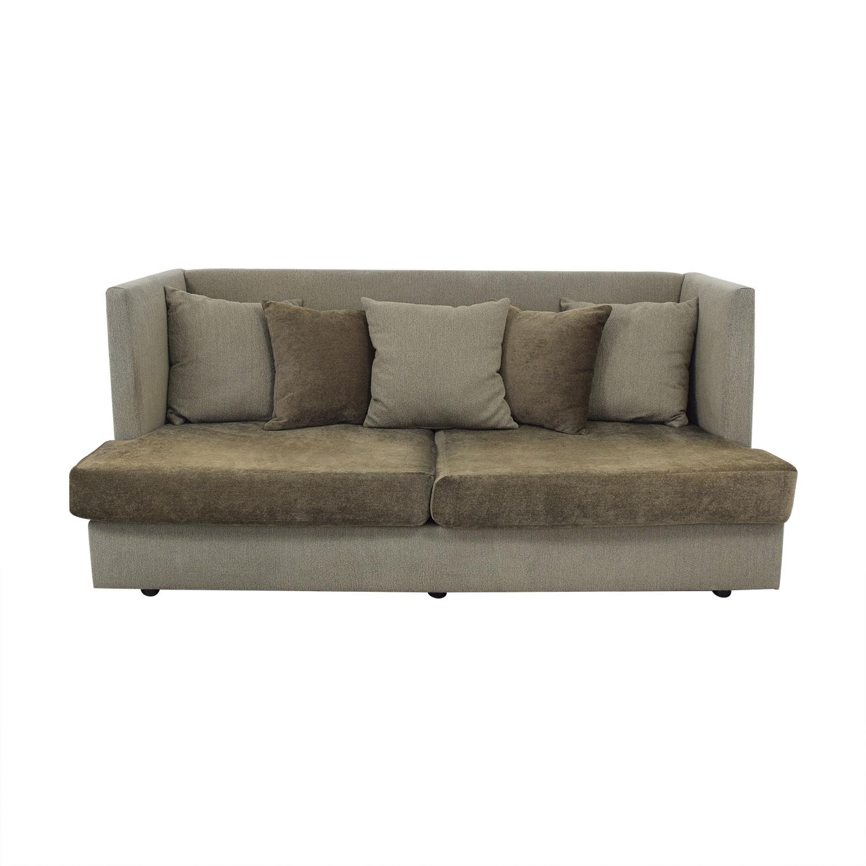 Crate & Barrel Milo Baughman Shelter Sleeper Sofa sale