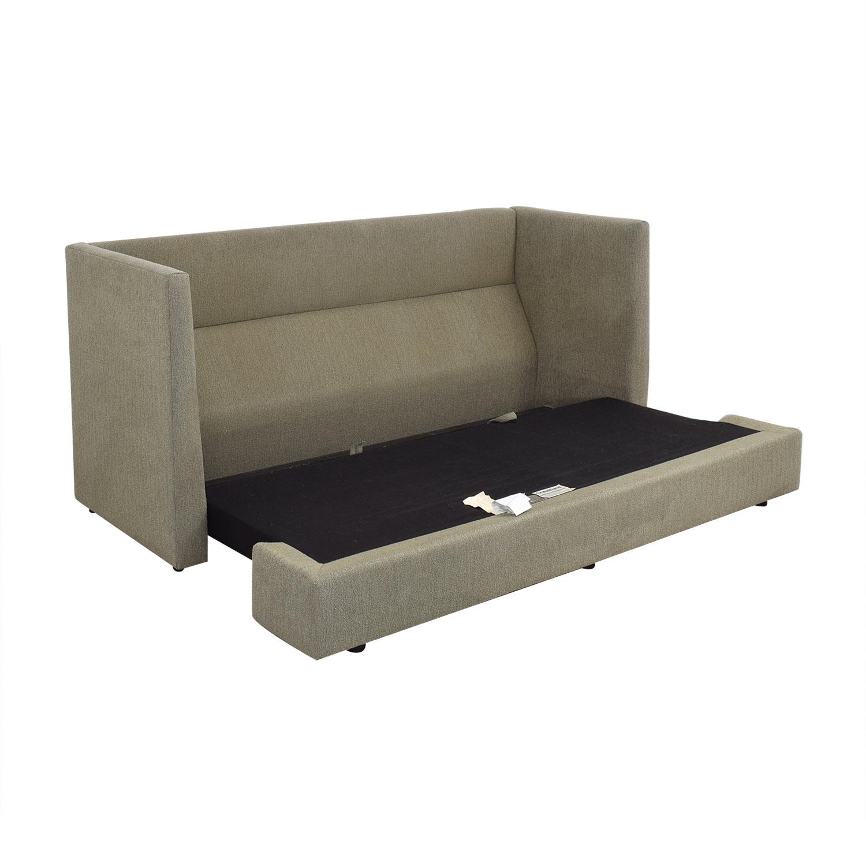 Crate & Barrel Crate & Barrel Milo Baughman Shelter Sleeper Sofa on sale
